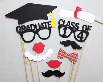 10 Class of 2016 Grad Photo Booth Prop Set - 2016 Graduation Photobooth - 2016 Grad Party - Class of 2016