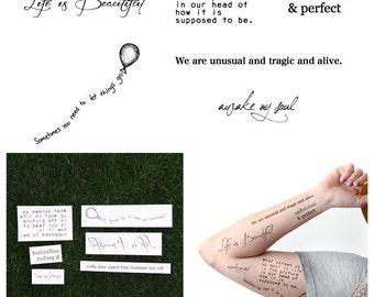 C'est La Vie - Temporary Tattoo (Set of 12)