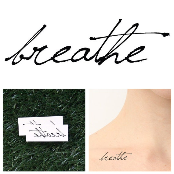 Breathe - Temporary Tattoo (Set of 2)