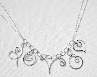 Love Heart Necklace Love Necklace Heart Necklace Heart Love Necklace Valentines Day Necklace Mothers Day Jewelry