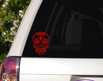Sugar Skull Car Window Decal