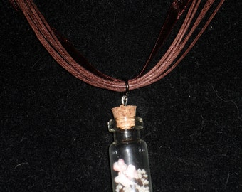 Bloody Graveyard Halloween Themed Bottle Charm Necklace