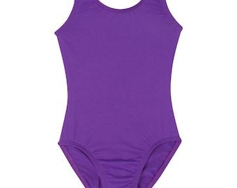 PURPLE Toddler & Girls Ballet - Gymnastics Sleeveless Tank Leotard