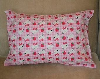 Travel Pillow Case / Child Pillow Case HELLO KITTY