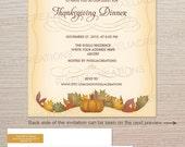 Thanksgiving Dinner Party printable invitation