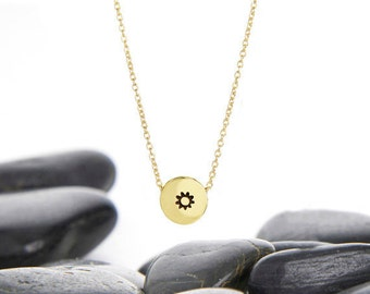 Sun Pendant, Sun Necklace, Sun Jewelry, Sun, Gold Sun Necklace, Sun Charm, Gold Sun, Sun Jewellery, Summer Necklace, Gold Sun Charm