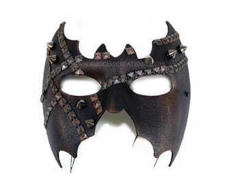 Legacy Studded Hand Painted Men's Masquerade Mask - A-2222-E