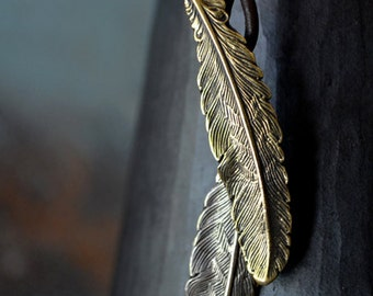 Free Spirit Feather Cord Necklace