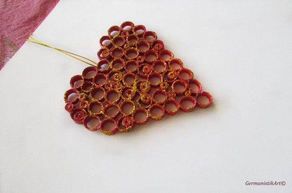 Rotes Herz Dekoration Dekoration Zum Valentinstag