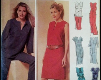 Simplicity 5680  Misses' / Misses' Petite Design Your Own Pants, Skirt And Dress in two Lengths Or Tunic  Size (6-12)  UNCUT