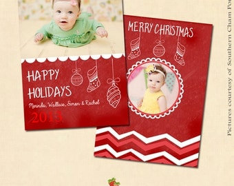 INSTANT DOWNLOAD 5x7 Multipurpose Card Photoshop Template - CA118