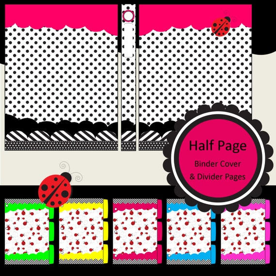 LIMITED EDITION: Half Page Printable Binder Covers Spine