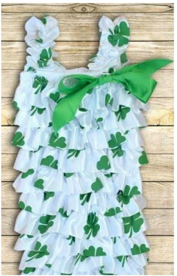 St Patricks Day 4 Leaf Clover Outfit Green Lace by