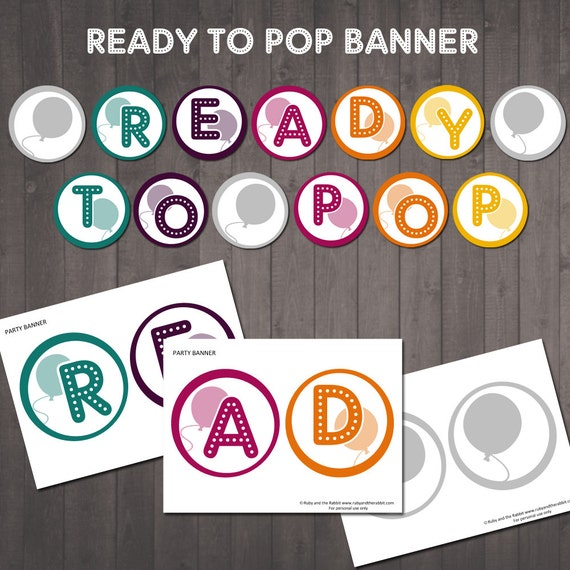 ready to pop baby shower banner printable ready to pop sign