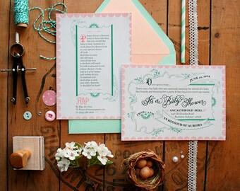 Storybook {Fairy Tale or Nursery Rhyme} Baby Shower Invitations - Anne-Marie