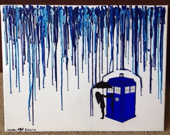 Doctor Who Melted Crayon Art (14x18 in)