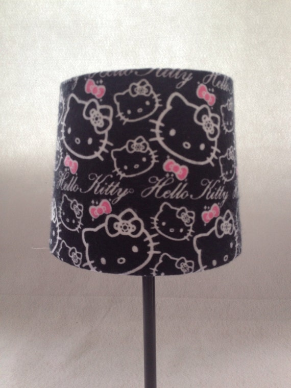 hello kitty outline on black lamp by boxofscraps on etsy. Black Bedroom Furniture Sets. Home Design Ideas