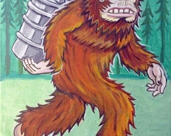 Bigfoot Kegger -- 8x10 Art Print