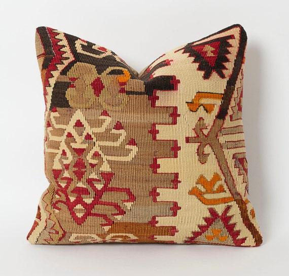 Vintage Kilim Pillows Bohemian Home Decor Kilim Cushion