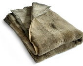 Carpet or Bedspread Big Khaki - 170 x 220 Centimeters - Handmade Decorative Leather Rug.