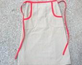 Vintage Skirt, Vintage Beige Skirt, Beige Skirt, Wrap Skirt, Vintage Wrap Skirt, Red Skirt, Vintage Red Skirt, Beige & Red, Red Wrap Skirt