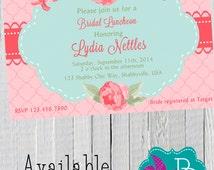 Shabby Chic Bridal/Baby Shower/Rehersal Dinner Invitation