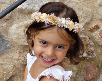 Fall flower crown, floral crown, autumn colors