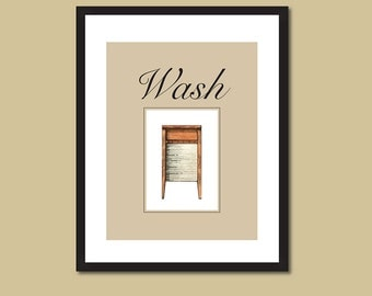 Vintage Washboard, Laundry Room Decor, Old Wooden Washboard, Laundry Print, Laundry Organization, Cottage Chic, 5 x 7, 8 x 10 or 10 x 12