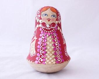 Nevalyashka (Russian Roly Poly) Bell, Matryoshka Bell, Nevalyashka Musical Tumbler Doll, Nesting Doll Bell