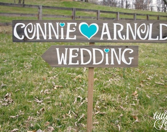 Rustic Wedding Sign, Beach Wedding Sign, Personalized Signage, Custom Wood Personalized Sign, Directional Wedding Sign, Country Wedding Sign