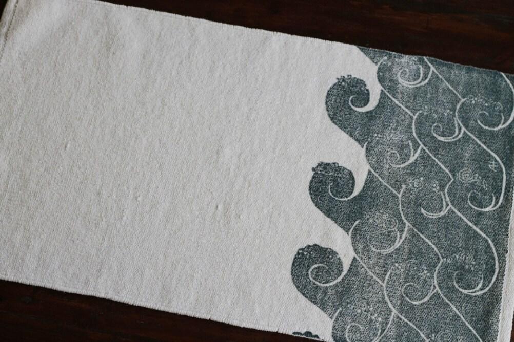 Bath Rug Bath Mat Waves Cotton Chenille Rug