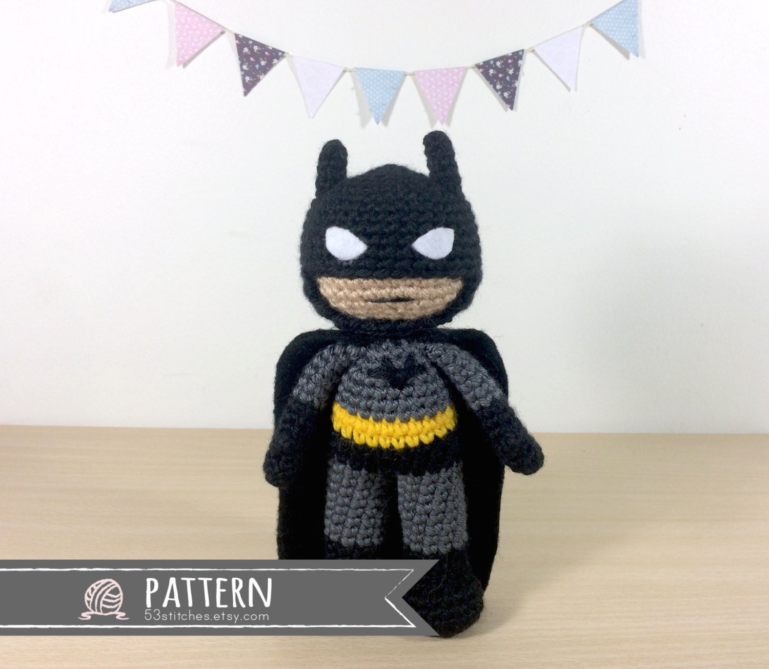 Free Amigurumi Batman Pattern : Batman Amigurumi Crochet Doll Pattern