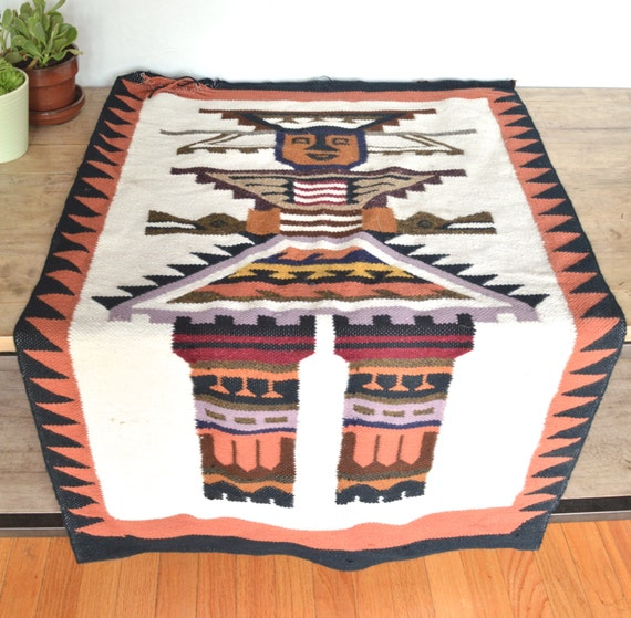 Items Similar To Vintage Mexican Tapestry, Wall Hanging