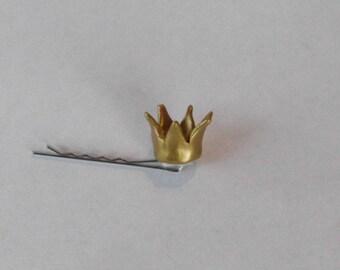 Flower Girl Mini Crown Hair Pin Extra Mini Crown Bobby Pin Princess Hair pin