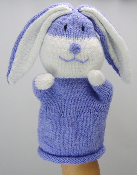 Hand Knitted Toys : Knitting pattern rabbit hand puppet