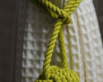 Lime Green Curtain Tie Back  (this is for a pair of knots)