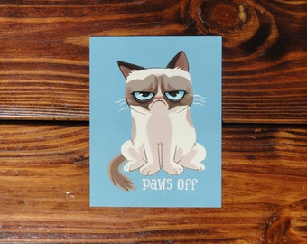 Grumpy Cat Magnet (Set of 3) - Hi. or Paws Off