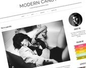 Responsive WordPress Theme - Premade WordPress Blog Template - Fashion WordPress Theme - Black, White, Neon - Clean & Simple - Modern Candy