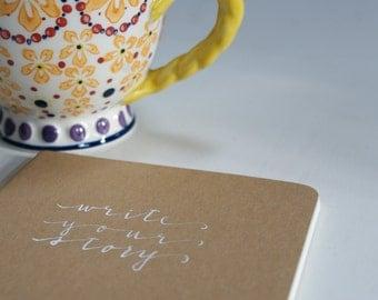 Moleskine Journal. Custom hand-lettered.
