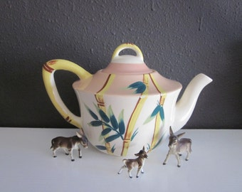 Weil Ware Teapot Bamboo Malay California Pottery