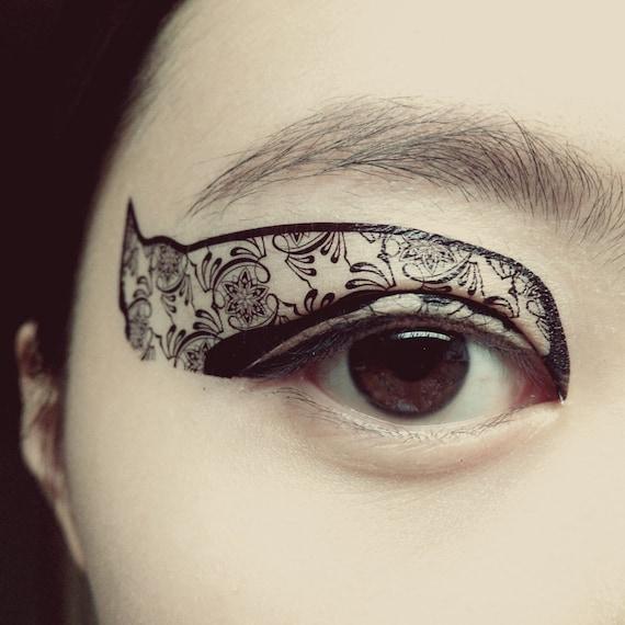 1 pair eye fake temporary tattoo makeup eyeshadow by cclstore for Eye temporary tattoo makeup