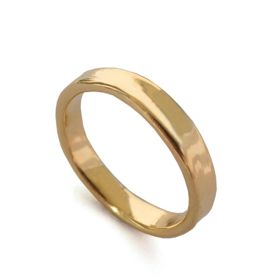 simple gold wedding band 18k gold ring 18k gold band