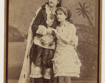 Theatrical Cabinet/ Boudoir Card of Two Actresses in Costume