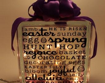 Easter Glass Lit Block
