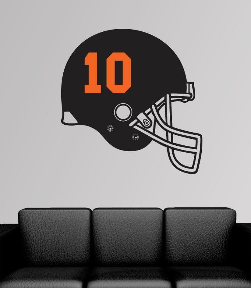 personnalis casque de football am ricain sticker vinyle. Black Bedroom Furniture Sets. Home Design Ideas