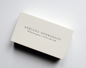Business calling cards etsy 150 custom letterpress business cards reheart Gallery