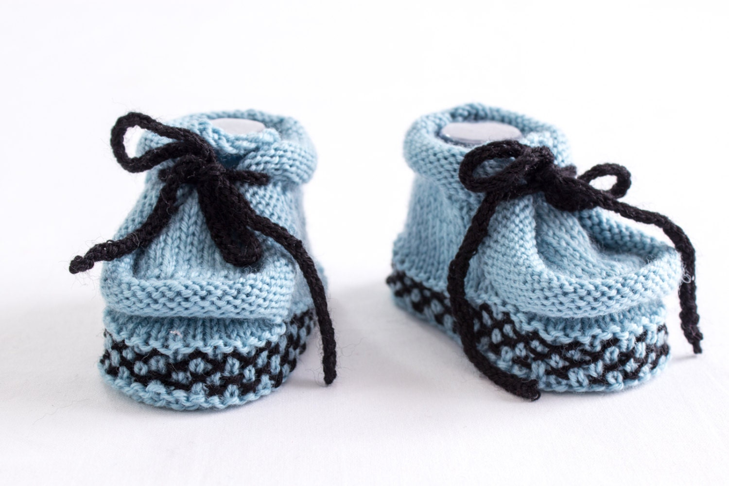 KNITTING PATTERN Knit Baby Moccasin Booties Boy Moccasin