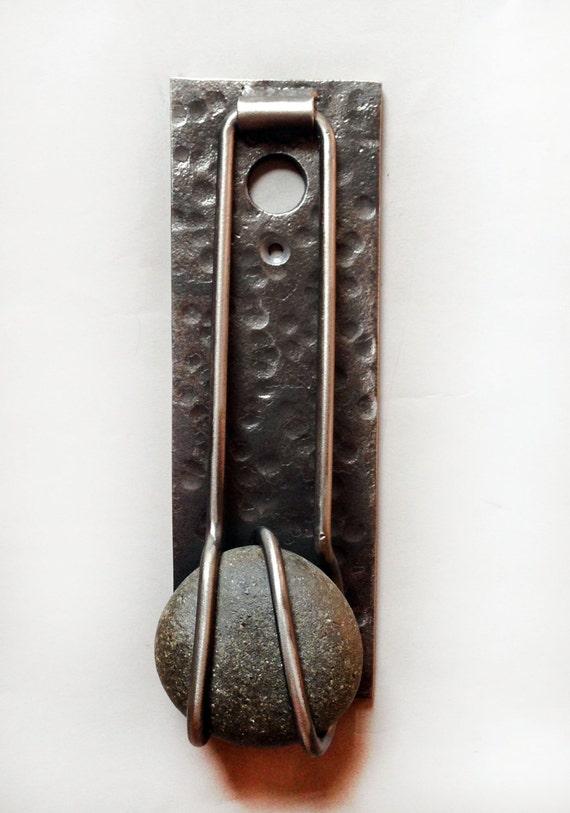 Door knocker metal stone peephole industrial by fuzestudio - Peephole door knocker ...