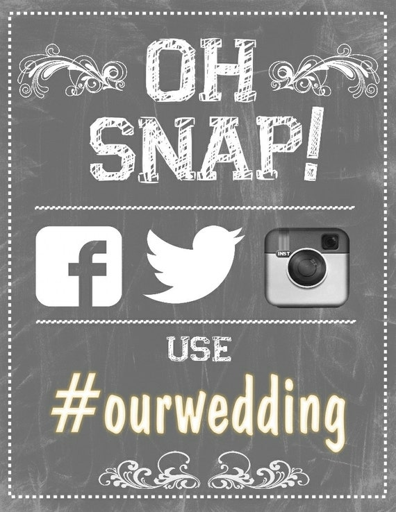 instagram wedding poster hashtag sign by bowersink on etsy. Black Bedroom Furniture Sets. Home Design Ideas
