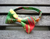 Tropical Bow tie, Hawaii fabric, Hawaii, Funky bow tie, Retro Kitsch, Tahitian Bowtie, kids bow tie, mens bow tie